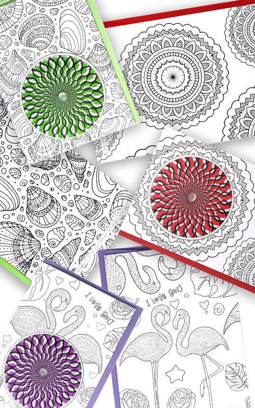 DIY Colouring Cards
